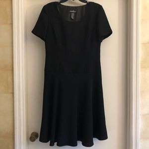 POSITIVE ATTITUDE black fit and flare dress.